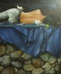 Obras de arte: Europa : España : Valencia : valencia_ciudad : Naturaleza durmiente con pequeño mar nocturno