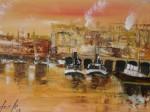 Obras de arte: Europa : España : Euskadi_Bizkaia : Bilbao : Ria de Portugalete 4