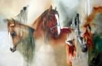 Obras de arte: America : Chile : Region_Metropolitana-Santiago : Las_Condes : tres caballos