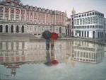 Obras de arte: Europa : España : Galicia_La_Coruña : Coruna : La pareja de paraguas