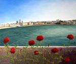 Obras de arte: Europa : España : Galicia_La_Coruña : Coruna : Terraza imaginaria con flores3 (Playa del Orzán)