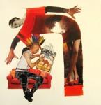 Obras de arte: America : Chile : Region_Metropolitana-Santiago : Santiago_de_Chile : Punkito es un fumador empedernido, su mamá le ruega que deje el vicio