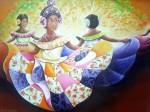 Obras de arte: America : Panamá : Colon-Panama : Barrio_Sur : Minina y las Danzantes