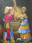 Obras de arte: America : Panamá : Colon-Panama : Barrio_Sur : Las Mojongos no pida arroz.