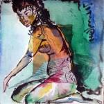 Obras de arte: Europa : España : Catalunya_Barcelona : BCN : cuadrado con mujer