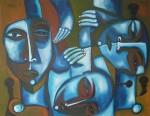 Obras de arte: America : Cuba : Ciudad_de_La_Habana : miramar_playa : Incomprensión gregaria.