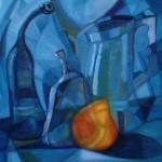 Obras de arte: America : Perú : Lima : chorrillos : Bodegon azul