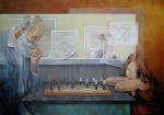 Obras de arte: Europa : España : Valencia : valencia_ciudad : Ajedrez  - Chelin Sanjuan