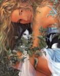 Obras de arte: Europa : España : Valencia : valencia_ciudad : Mujer con Gato - Chelin Sanjuan