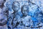 Obras de arte: America : Argentina : Buenos_Aires : Villa_Elisa : Niños negros