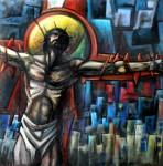 Obras de arte: America : Argentina : Tierra_del_Fuego : Ushuaia : Cristo en la ciudad