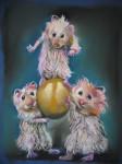 Obras de arte: Europa : España : Galicia_La_Coruña : FERROL : ratones jugando