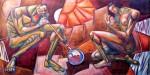 Obras de arte: America : Argentina : Tierra_del_Fuego : Ushuaia : Los luchadores