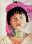 Obras de arte: Europa : España : Catalunya_Barcelona : SantFeliu_de_Llobregat : niña jirafa