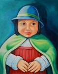 Obras de arte: Europa : Alemania : Hamburg : Eimbüttel : Niña con Sombrero