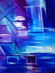 Obras de arte: Europa : España : Valencia : camp_de_morvedre : reflex amb blau