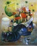Obras de arte: America : Cuba : La_Habana : Vedado : el largo viaje