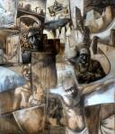 Obras de arte: America : Argentina : Tierra_del_Fuego : Ushuaia : Dios en un banco