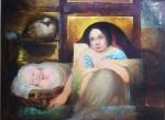 Obras de arte: America : Panamá : Veraguas : Santiago_de_Veraguas : MATERNIDAD II. MIRADAS.