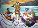 Obras de arte: America : Panamá : Colon-Panama : Barrio_Sur : María Merced y las danzantes.