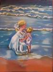 Obras de arte: Europa : España : Galicia_La_Coruña : FERROL : Hermanos en la playa