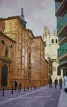 Obras de arte: Europa : España : Castilla_y_León_Burgos : Miranda_de_Ebro : Calle Juan de Castilla ( Palencia)