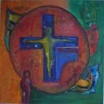 Obras de arte: America : Argentina : Cordoba : Cordoba_ciudad : Cristo amarillo en un mundo rojo