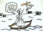 Obras de arte: Europa : España : Catalunya_Barcelona : Barcelona_ciudad : Ana se va a trabajar a Méjico !