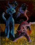 Obras de arte: America : Ecuador : Azuay : Cuenca : gatos
