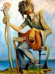 Obras de arte: Europa : Espa�a : Andaluc�a_Sevilla : Sevilla-ciudad : Guitarra y guitarrista
