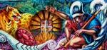 Obras de arte: America : Argentina : Tierra_del_Fuego : Ushuaia : Visiones de un negro futuro