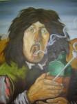 Obras de arte: America : México : Mexico_Distrito-Federal : Coyoacan : Fumador