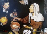 Obras de arte: Europa : España : Valencia : valencia_ciudad : vieja friendo huevos  (copia de Velázquez)