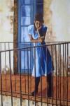 Obras de arte: Europa : España : Castilla_y_León_Burgos : Miranda_de_Ebro : balcon con niña