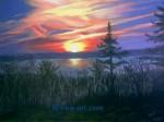 Obras de arte: Europa : Dinamarca : Vejle : Dinamarca-Vejle : Sunset, Aeroescoebing Dinamarca
