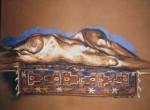 Obras de arte: Europa : España : Andalucía_Cádiz : Arcos_Fra : Isabel with Afghani carpet