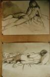 Obras de arte: Europa : España : Andalucía_Cádiz : Arcos_Fra : Dos bocetos en carboncillo