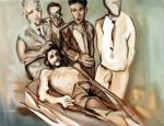 Obras de arte: Europa : España : Catalunya_Barcelona : Viladecans : Che Guevara en su lecho de muerte