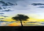 Obras de arte: Europa : España : Catalunya_Barcelona : Terrassa : puesta de sol en Marruecos