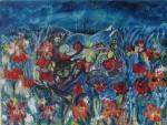 Obras de arte: Europa : España : Castilla_la_Mancha_Guadalajara : Moranchel : Gatos y flores silvestres