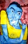 Obras de arte: America : Argentina : Buenos_Aires : san_mar : retrato azul
