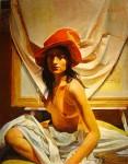 Obras de arte: America : Argentina : Buenos_Aires : Ciudad_de_Buenos_Aires : La Mujer del Sombrero Rojo lV