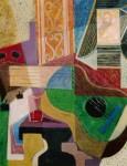 Obras de arte: Europa : España : Valencia : Ontinyent : bodegon cubista