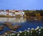 Obras de arte: Europa : España : Galicia_La_Coruña : Coruna : Rerraza imaginaria con flores7(Redes2)