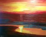 Obras de arte: Europa : España : Galicia_Pontevedra : vigo : Puesta de sol
