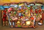Obras de arte: America : Colombia : Santander_colombia : Bucaramanga : INTEGRACIONISMO PALENQUERO - LAS PALENQUERAS