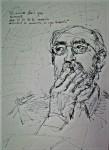 Obras de arte: Europa : España : Madrid : alcala_de_henares : retrato del poeta Angel González