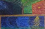 Obras de arte: Europa : España : Catalunya_Barcelona : Barcelona : reflejos sol luna nº 69