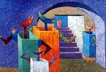 Obras de arte: America : Bolivia : Cochabamba : Cochabamba_ciudad : Entrada al púlpito