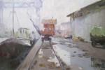 Obras de arte: America : Argentina : Buenos_Aires : Caballito : Despues de la lluvia